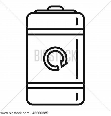 Recharge Electric Battery Icon Outline Vector. Full Energy. Power Cell