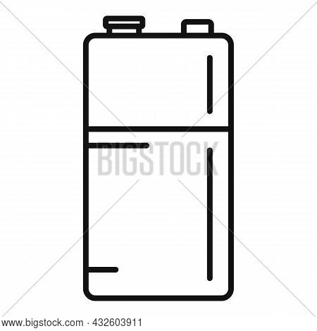 Cylinder Battery Icon Outline Vector. Full Energy. Accumulator Cell