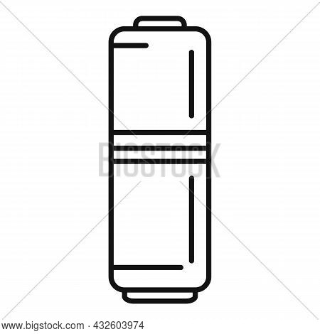 Load Battery Icon Outline Vector. Full Energy. Cell Power