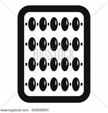 Inca Abacus Icon Simple Vector. Math Calculator. Wooden Toy