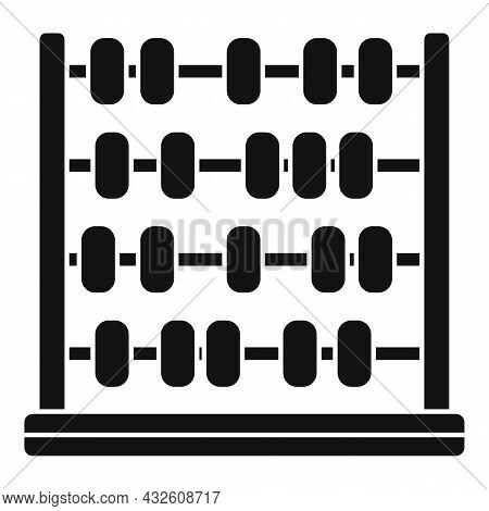 Arithmetic Abacus Icon Simple Vector. Math Calculator. Counting Toy