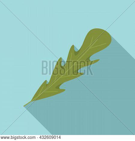 Arugula Salad Icon Flat Vector. Rucola Leaf. Vegetable Plant