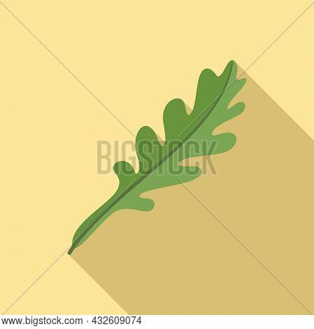 Vegetable Arugula Icon Flat Vector. Rucola Salad. Plant Leaf
