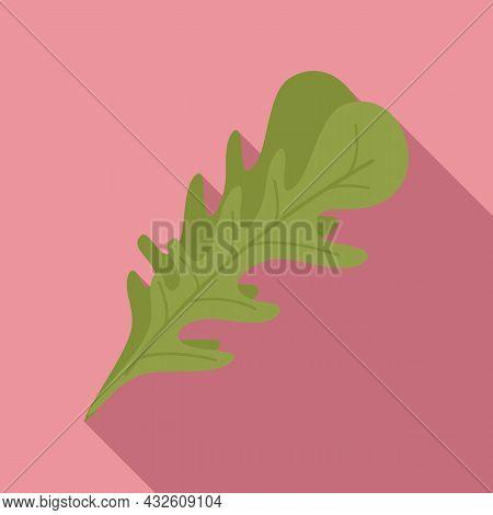 Arugula Rocket Icon Flat Vector. Rucola Salad. Leaf Plant