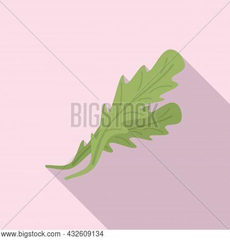 Dill Arugula Icon Flat Vector. Rucola Salad. Vegetable Leaf
