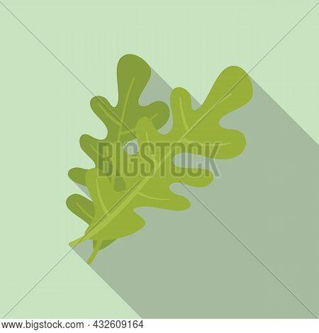 Rocket Rucola Icon Flat Vector. Arugula Salad. Leaf Plant