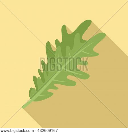 Rucola Herb Icon Flat Vector. Arugula Salad. Leaf Plant