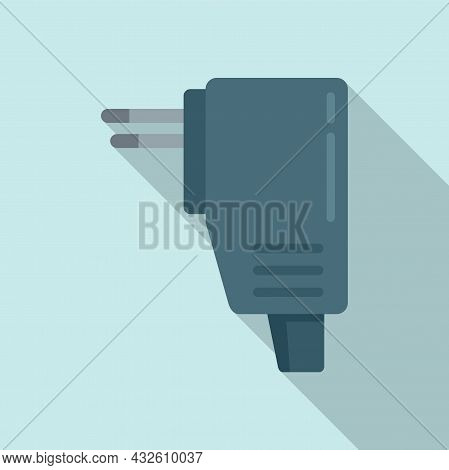 Recharge Mobile Icon Flat Vector. Phone Charger. Cellphone Plug