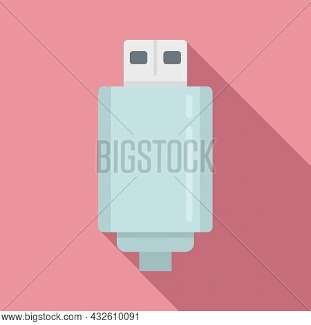 Wall Charger Icon Flat Vector. Mobile Usb. Battery Cell