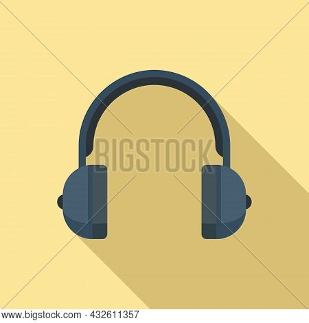 Headset Call Icon Flat Vector. Phone Service. Gamer Microphone