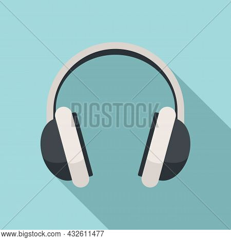 Game Headset Icon Flat Vector. Headphone Microphone. Customer Gamer