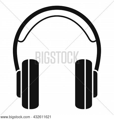 Gamer Headset Icon Simple Vector. Customer Headphone. Service Microphone