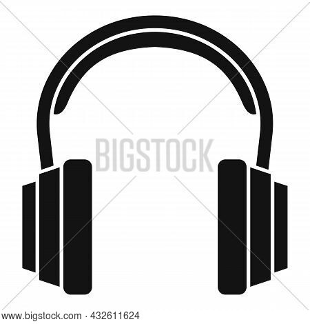 Customer Headset Icon Simple Vector. Gamer Microphone. Service Center