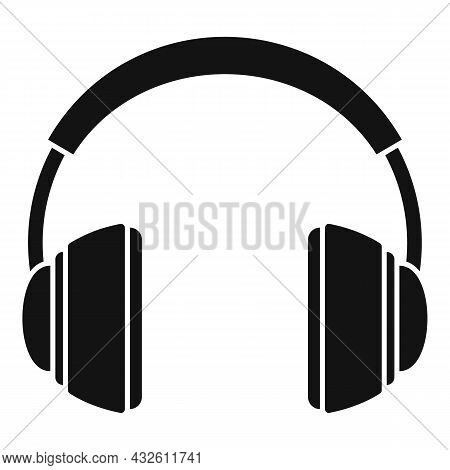 Audio Headset Icon Simple Vector. Gamer Service. Call Support