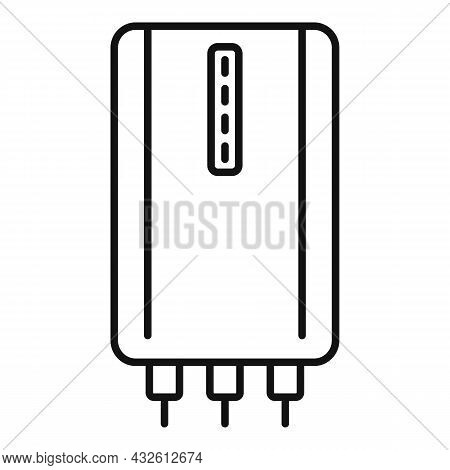Cellphone Power Bank Icon Outline Vector. Charge Phone. Mobile Usb Charger