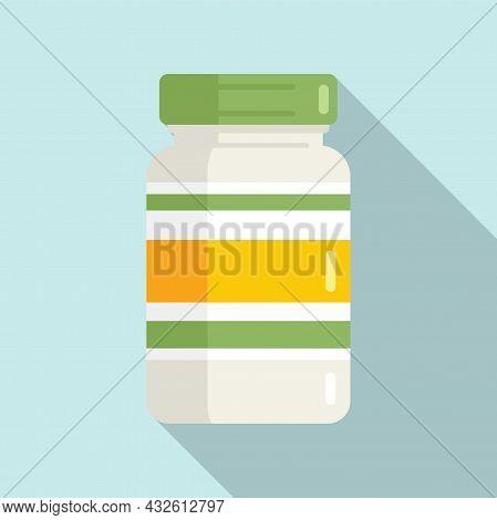 Probiotic Pills Icon Flat Vector. Lactobacillus Bacteria. Gut Bacterium
