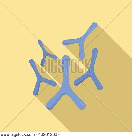 Staphylococcus Probiotic Icon Flat Vector. Bacteria Lactobacillus. Intestine Fermentation
