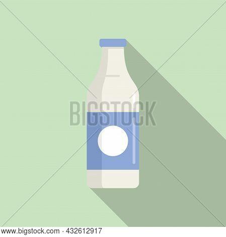 Milk Bottle Probiotic Icon Flat Vector. Gut Bacteria. Health Fermentation