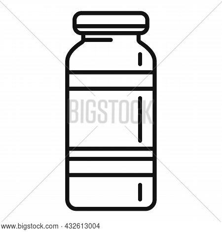 Probiotic Jar Icon Outline Vector. Lactobacillus Bacteria. Gut Prebiotic
