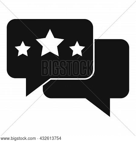 Review Chat Icon Simple Vector. Online Evaluation. App Service