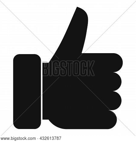 Thumb Up Review Icon Simple Vector. Online Product. Evaluation Customer