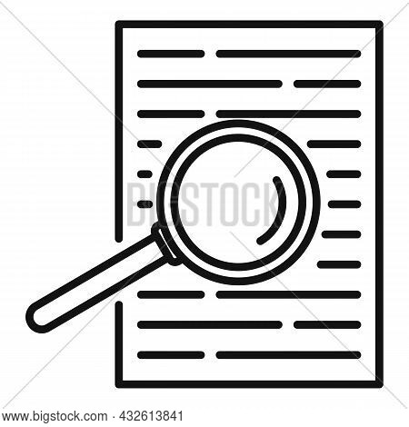 Product Review Paper Icon Outline Vector. Online Evaluation. Customer Star