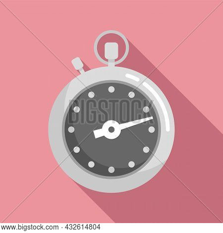 Stopwatch Meter Icon Flat Vector. Clock Watch. Timer Countdown