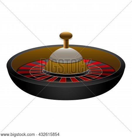 Casino Wheel Icon Cartoon Vector. Fortune Roulette. Lucky Win