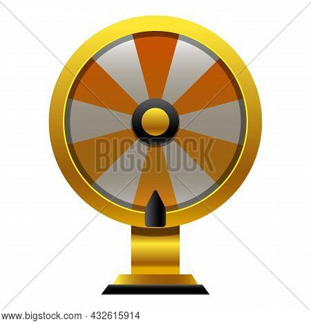 Fortune Wheel Icon Cartoon Vector. Lucky Game. Lottery Prize