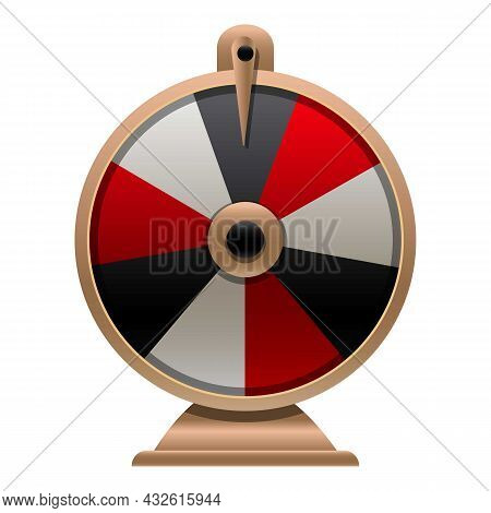 Fortune Wheel Spin Icon Cartoon Vector. Lucky Game. Lottery Prize