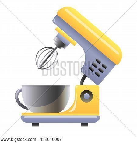 Food Processor Icon Cartoon Vector. Kitchen Mixer. Blender Machine