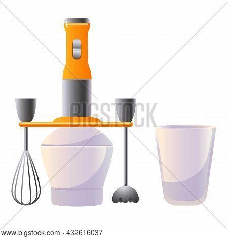 Electric Mixer Icon Cartoon Vector. Food Processor. Kitchen Blender