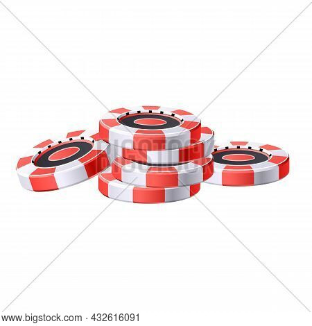 Casino Game Chips Icon Cartoon Vector. Poker Chip. Vegas Roulette