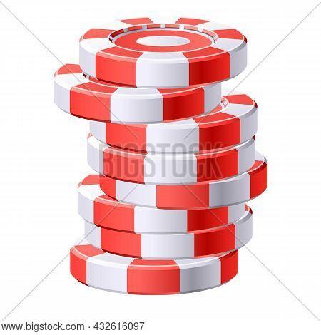Token Chip Game Icon Cartoon Vector. Casino Poker. Vegas Roulette