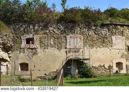 Ruin Of Prussian Forst Asterstein, Koblenz East Side Of The Rhine