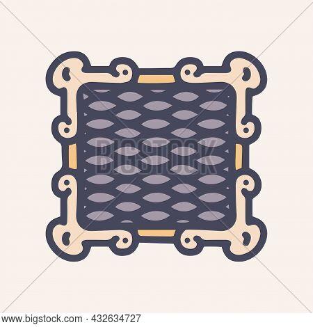 Retro Ventilation Grill Color Vector Doodle Simple Icon