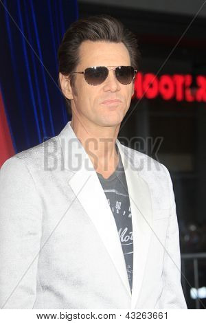 LOS ANGELES - MAR 11:  Jim Carrey arrives at the World Premiere of