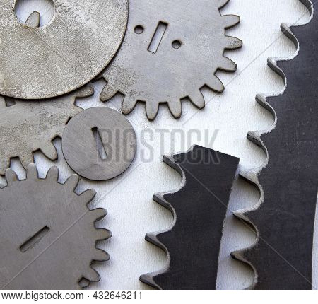 Products Cut Out Of Metal On A Laser Cutting Cnc Machine