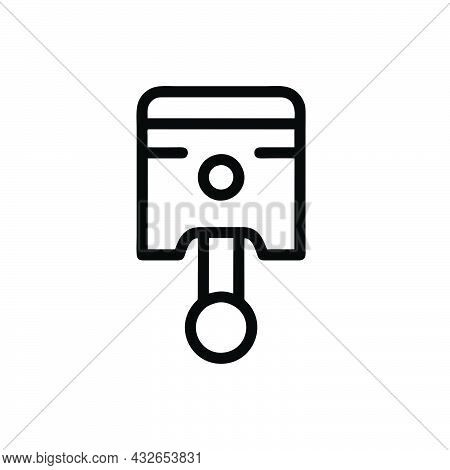 Piston Icon Isolated On White Background From Auto Racing Collection. Piston Icon Symbol For Logo, W