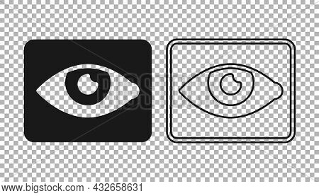 Black Red Eye Effect Icon Isolated On Transparent Background. Eye Redness Sign. Inflammatory Disease