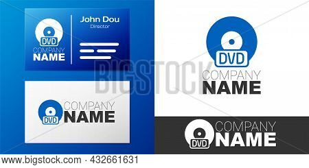 Logotype Cd Or Dvd Disk Icon Isolated On White Background. Compact Disc Sign. Logo Design Template E