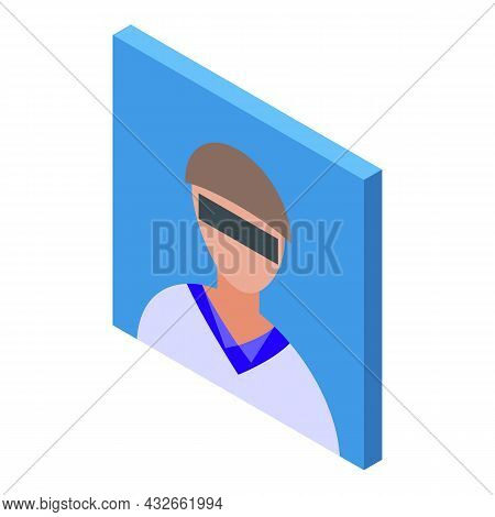 Stranger Avatar Icon Isometric Vector. Anonymous Person. Unknown Face