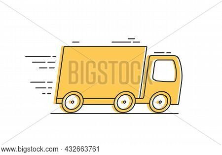 Fast Delivery Or Free Shipping Concept , Truck Icon, Vector Eps10 Illustration