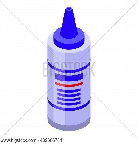 Ultrasound Gel Bottle Icon Isometric Vector. Ultrasonography Examination. Pregnant Test