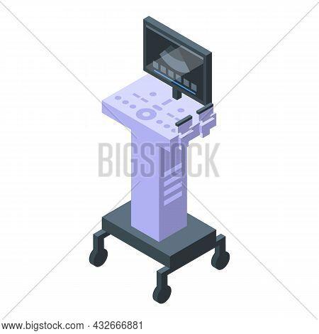 Ultrasonography Device Icon Isometric Vector. Baby Ultrasound. Pregnancy Examination