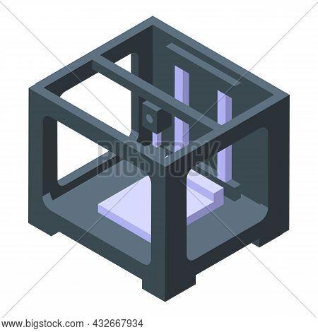 Bioprinting Printer Icon Isometric Vector. Medical Engineering. Bio Human