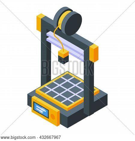 Human Organ Printer Icon Isometric Vector. Medical Engineering. Bioprinting Science