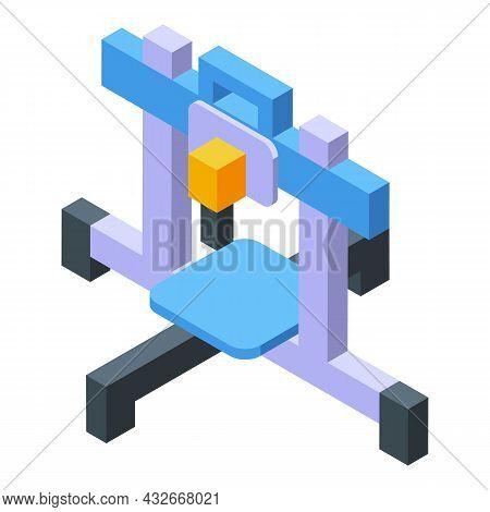 Medicine Printer Icon Isometric Vector. Medical Engineering. Bio Science