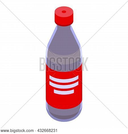 Cola Bottle Icon Isometric Vector. Soda Fizzy. Drink Glass