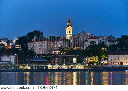 Belgrade, Serbia - 04 June 2021: Beautiful View Of The Historic Center Of Belgrade On The Banks Of T
